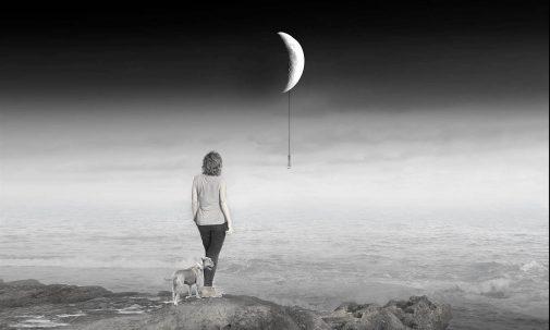 Quiero atrapar la luna porque solo ella conoce mis pensamientos más secretos